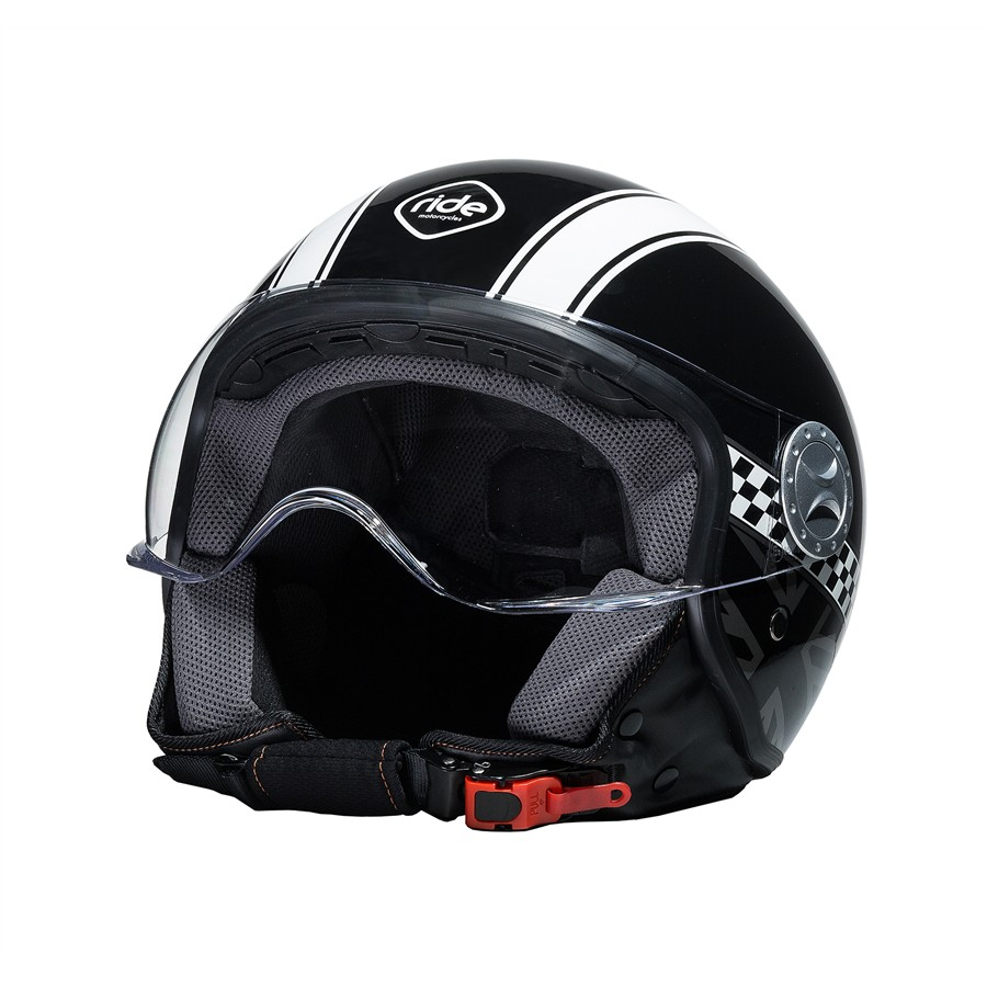Casco Moto Jet RIDE 701 Damier Negro XL