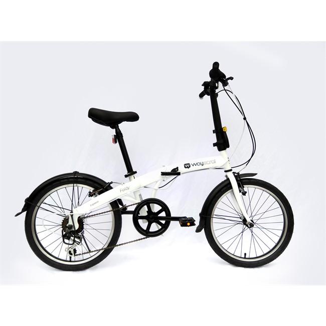Bicicleta Plegable Wayscral Foldy 20`` Blanca
