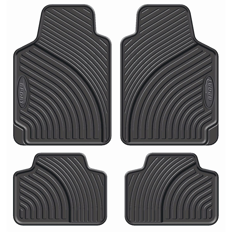 4 Alfombrillas coche universales de PVC CUSTO Pursuit