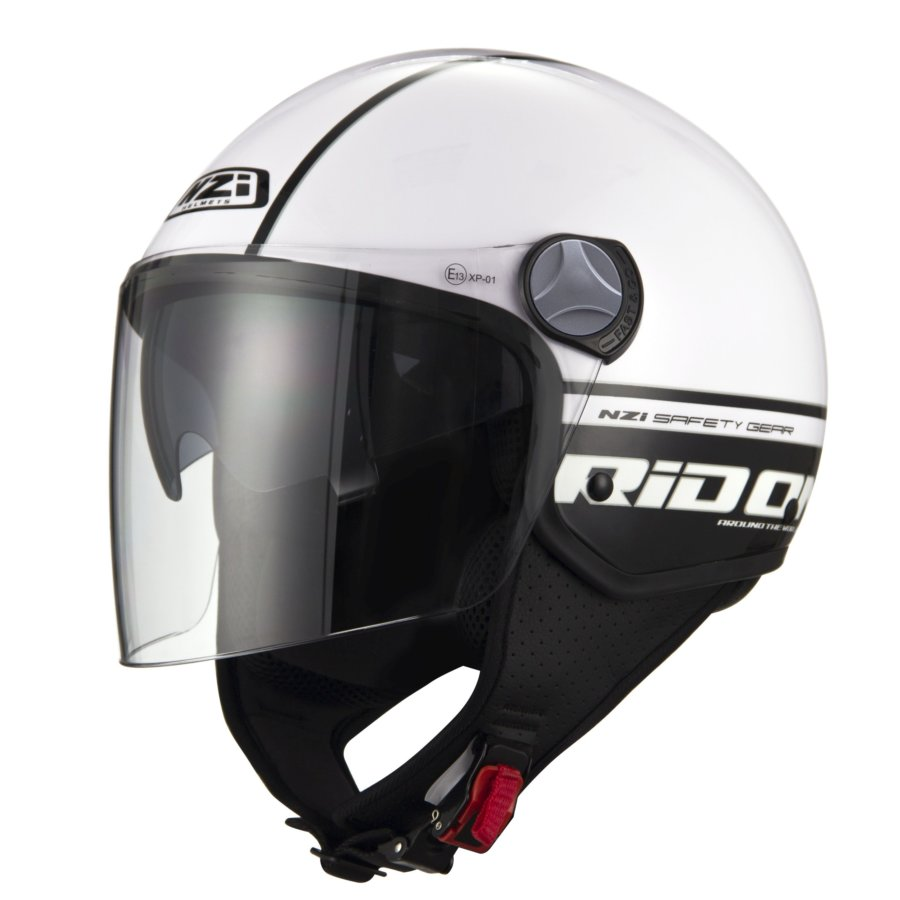 Casco Moto Jet NZI Capital 2 Duo blanco/negro L