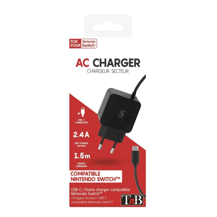 Cable cargador TNB para la NINTENDO SWITCH USB-C 2.4A