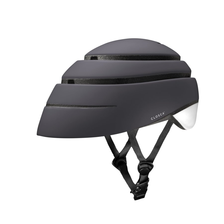 Casco plegable bicicleta/patinete adulto CLOSCA color Graphite White talla M