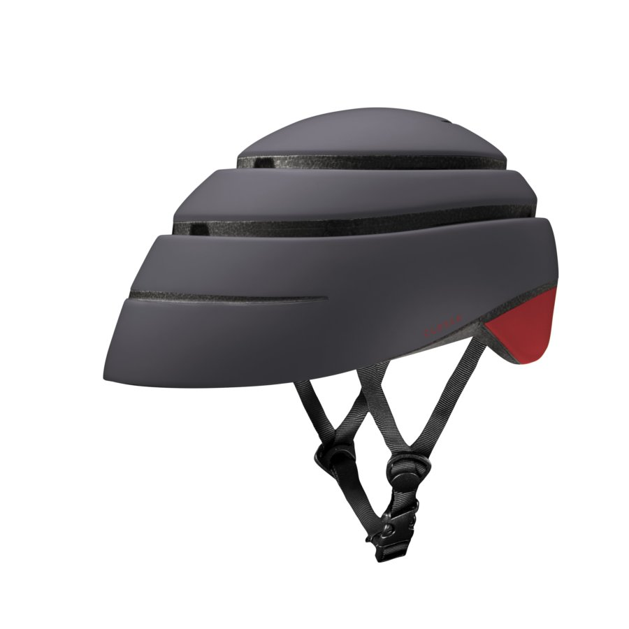 Casco plegable bicicleta/patinete adulto CLOSCA color Graphite Red Wine talla L