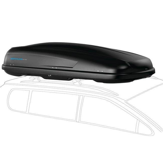 Maletero de techo norauto bermude 5700 negro 570 l for Maletero techo coche