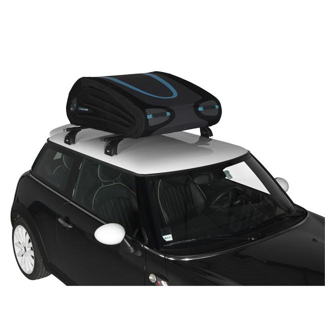 Maletero de techo flexible norauto bermude 3700 negro 370 for Maletero techo coche