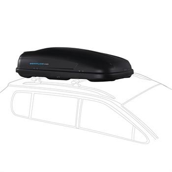 Maletero de techo norauto bermude 4100 negro 410 l for Maletero techo coche