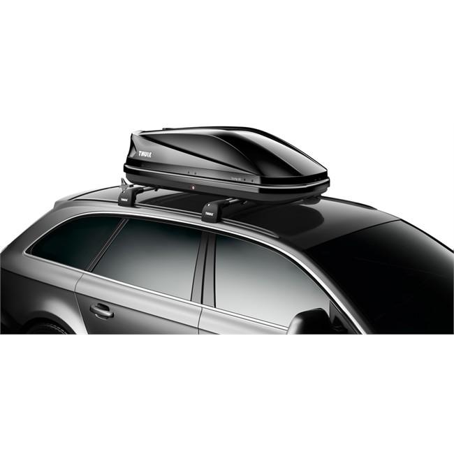 Maletero de techo thule touring 100 negro brillante 330 l for Maletero techo coche