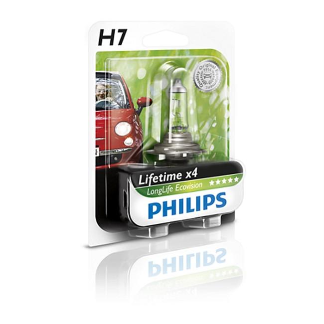 Philips Bombilla Long H7 Life 1 Ecovision IY76ygbfv